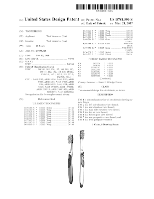 US Design Patent front page